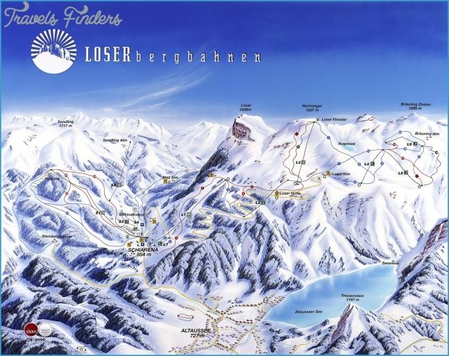 Loser Altaussee Bad Aussee ski map