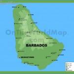 Barbados physical map