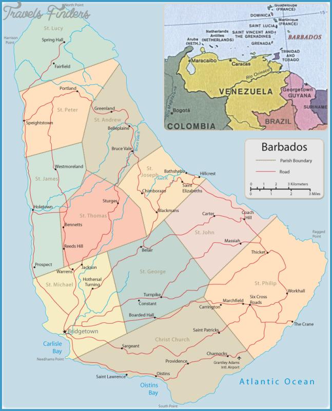Map of Barbados, Bridgetown