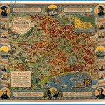 Pictorial Map - Melbourne Centennial, O J Dale,