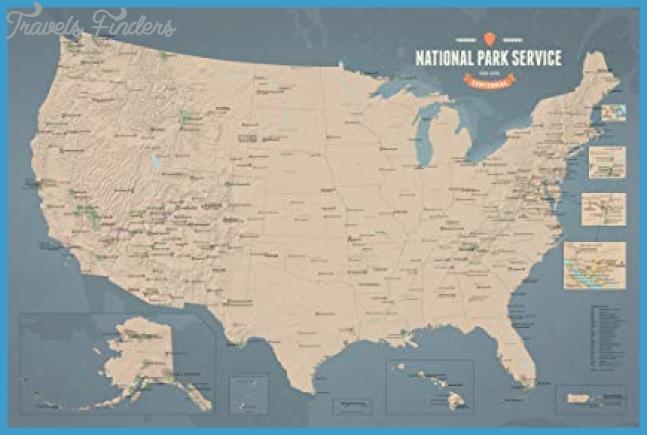 Amazon.com: National Park Service Centennial Map