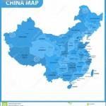 The Detailed Map Of The China With Regions Or States And Cities ...