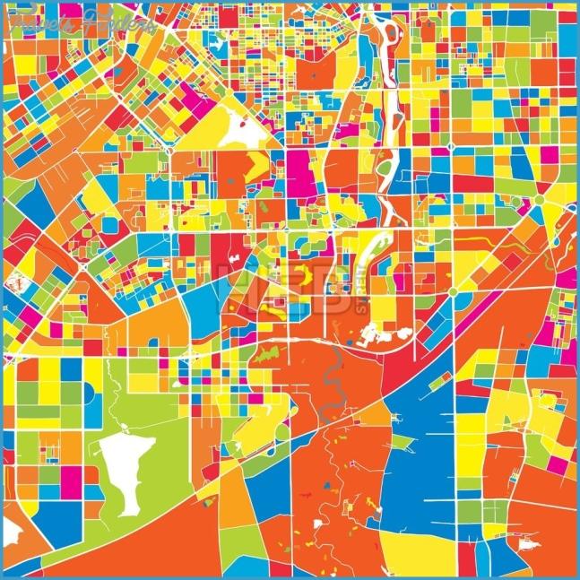Changchun, China, colorful vector map | Changchun and Print patterns