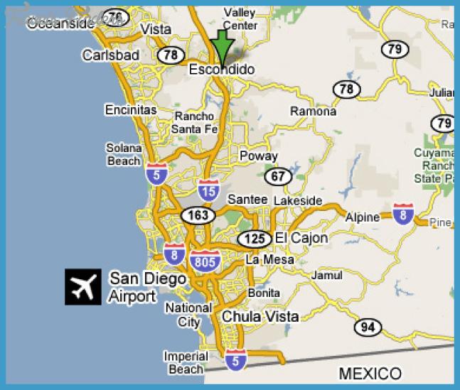 Cajon P Map on