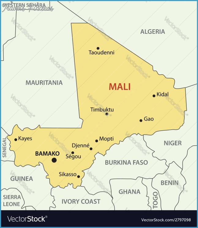 Republic of Mali - map Royalty Free Vector