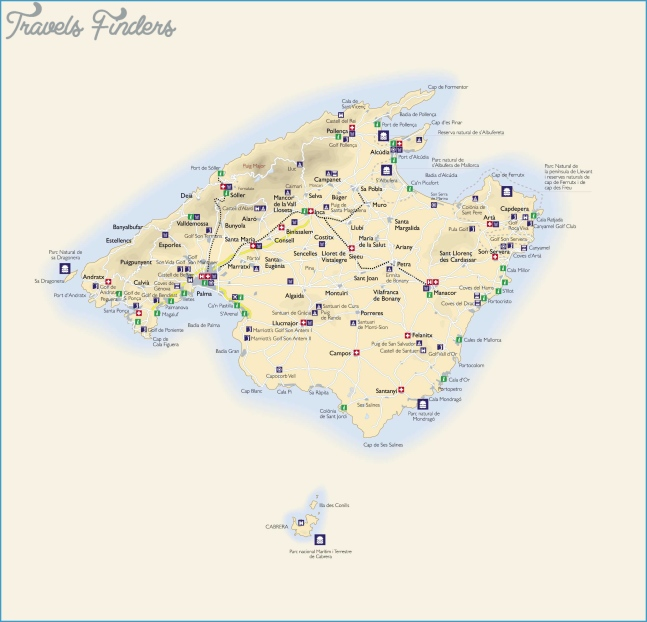 Large Mallorca Maps for Free Download and Print
