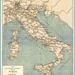 Old map of Transportation in Italy in 1900. Buy vintage map replica ...
