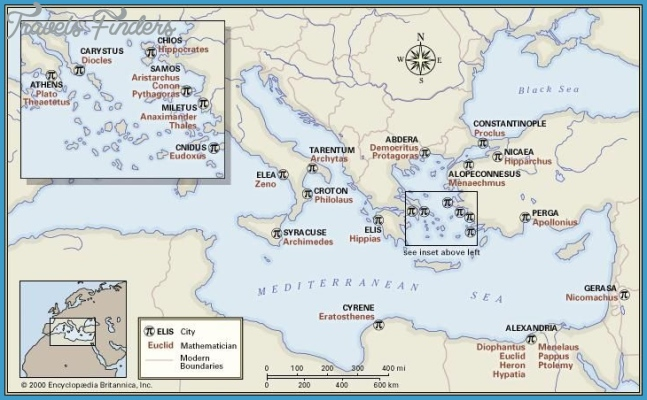 Mathematicians of the Greco-Roman world This map spans a millennium