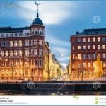 Helsinki, Finland. Crossroad Of Pohjoisranta And Kirkkokatu Street