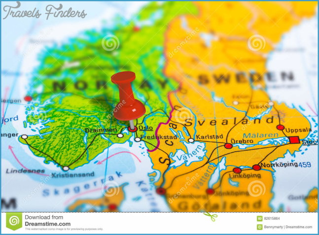 Oslo Norway map stock photo. Image of concept, geography
