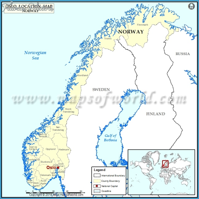 Where is Oslo | Location of Oslo in Norway Map