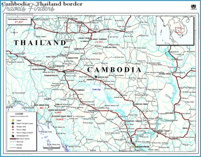Maps of the Thai / Cambodian Border & Refugee Camps