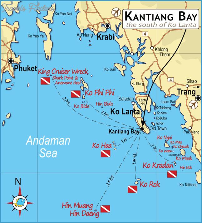 Map Of Koh Lanta Travelsfinders Com
