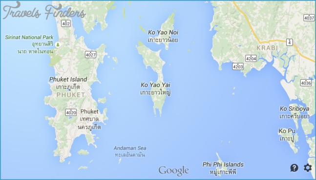 Google Map of Phuket Thailand