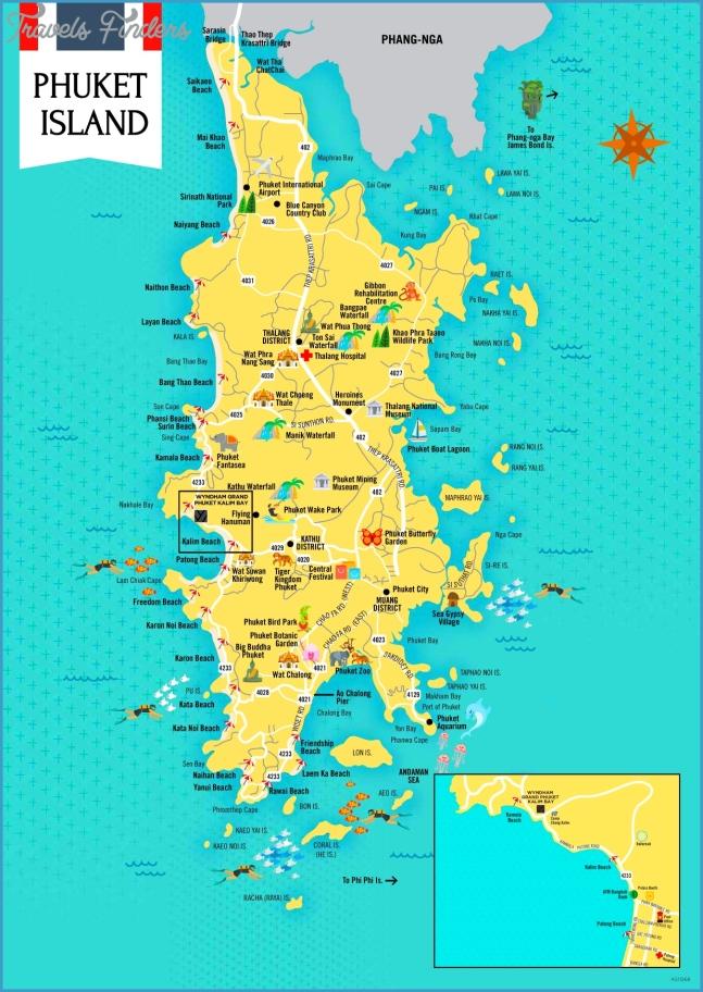 Phuket Maps | Thailand | Maps of Phuket Island
