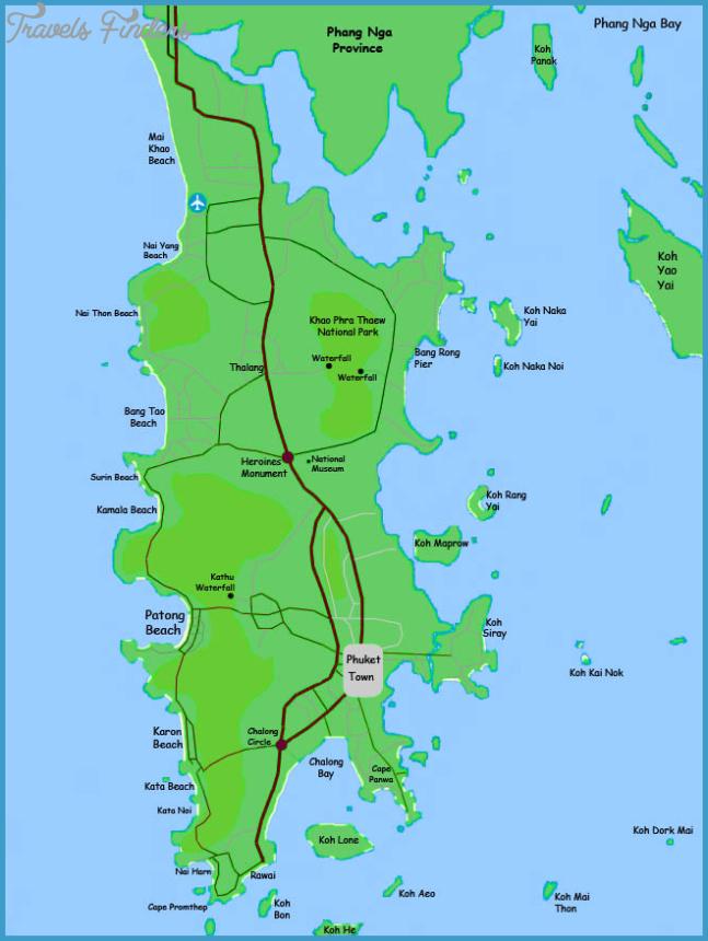 Phuket - Map Phuket Island