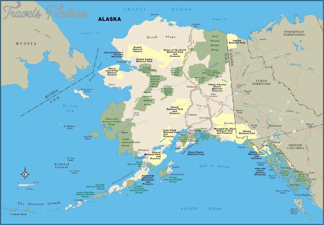 Map Us Canada Alaska