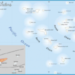Map of the Republic of Marshall Islands showing the fallout pattern