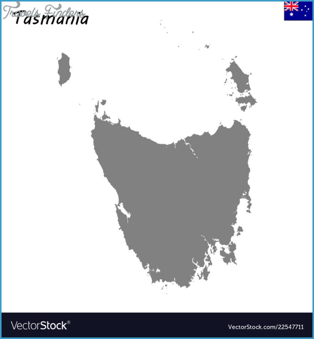 Map of tasmania is a state of australia Royalty Free Vector