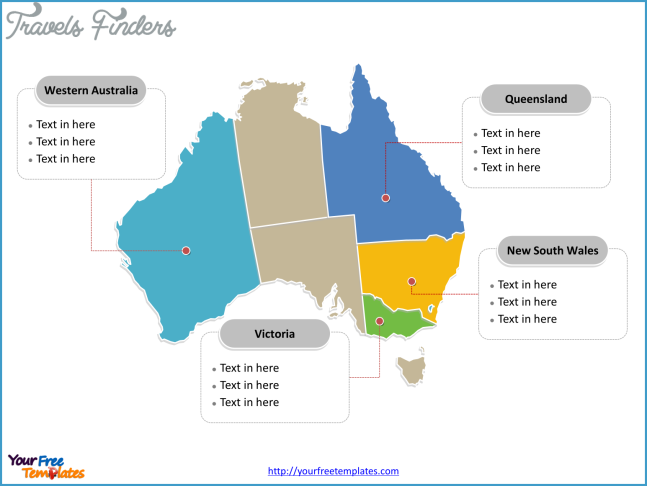 Free Australia Editable Map - Free PowerPoint Templates