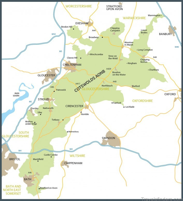 cotswolds map where to stay in 1