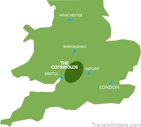 cotswolds map where to stay in 3
