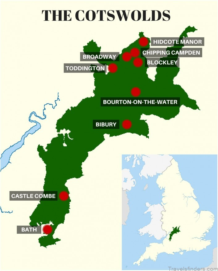 cotswolds map where to stay in