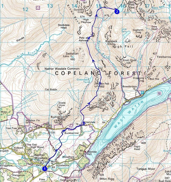 map of wast water swimming and camping review of wast water1