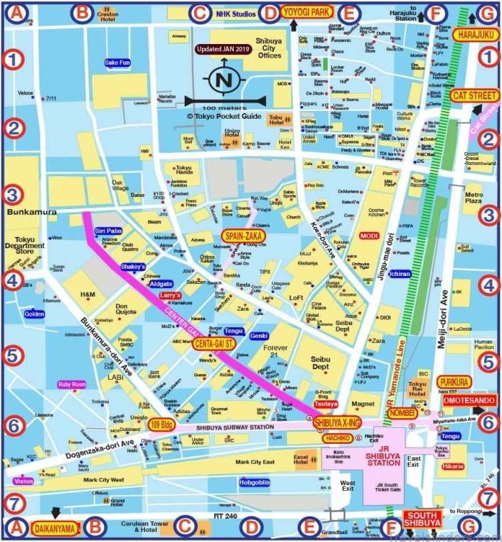tokyo map japan visitor japan travel guide