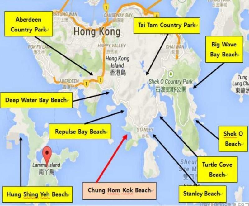 chung hom kok beach map the best beach in hong kong china 1
