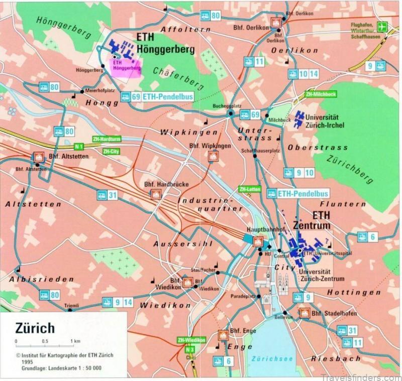 map of zurich where to stay in zurich 3