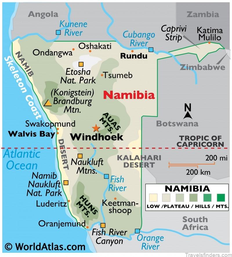 omaanda namibia map of namibia 1