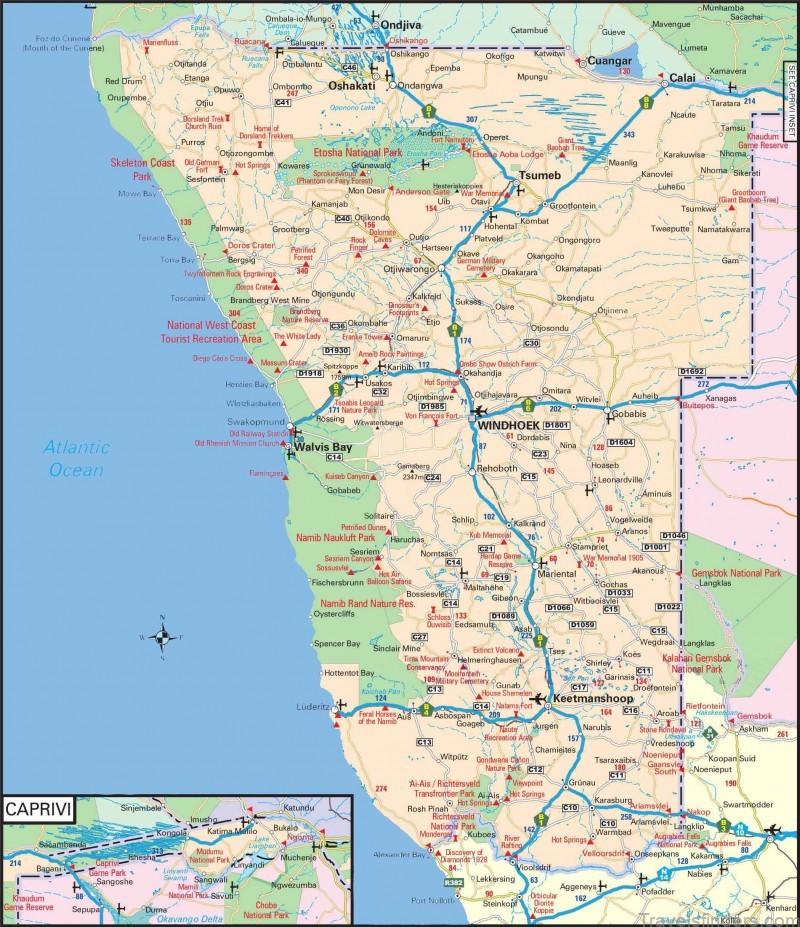 omaanda namibia map of namibia